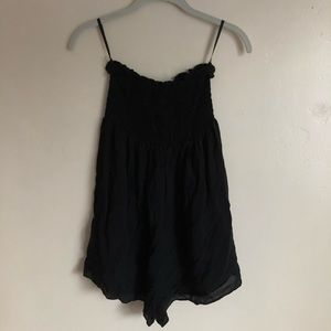 Urban Outfitters smocked strapless romper